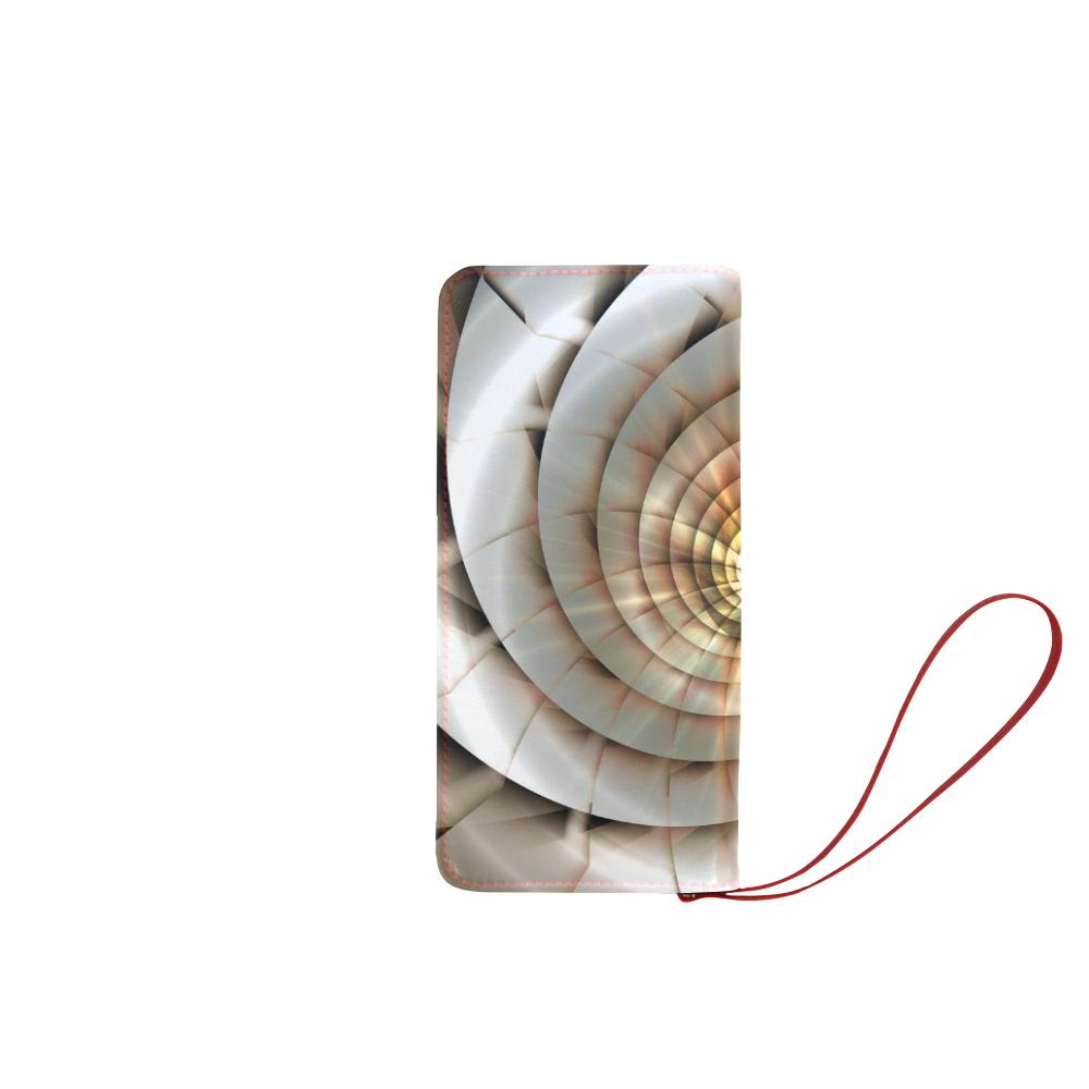 Spiral Eye 3D - Jera Nour Women's Clutch Wallet (Model 1637)