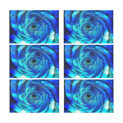 Galaxy Wormhole Spiral 3D - Jera Nour Placemat 12'' x 18'' (Six Pieces)