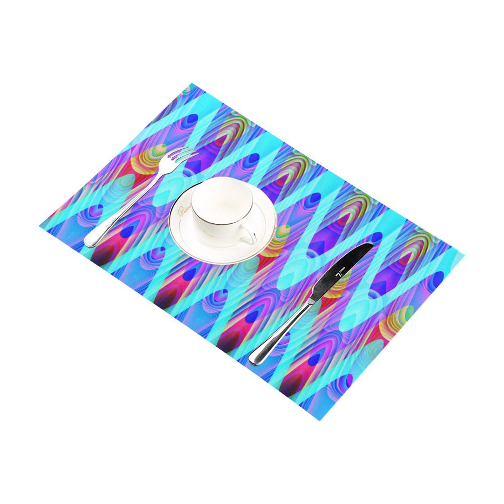 2D Wave #1A - Jera Nour Placemat 12'' x 18'' (Two Pieces)