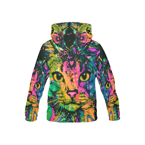 BohooCat All Over Print Hoodie for Kid (USA Size) (Model H13)