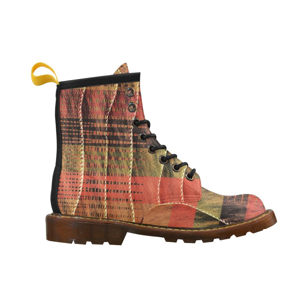 Batik Maharani #6 Vertical - Jera Nour High Grade PU Leather Martin Boots For Men Model 402H