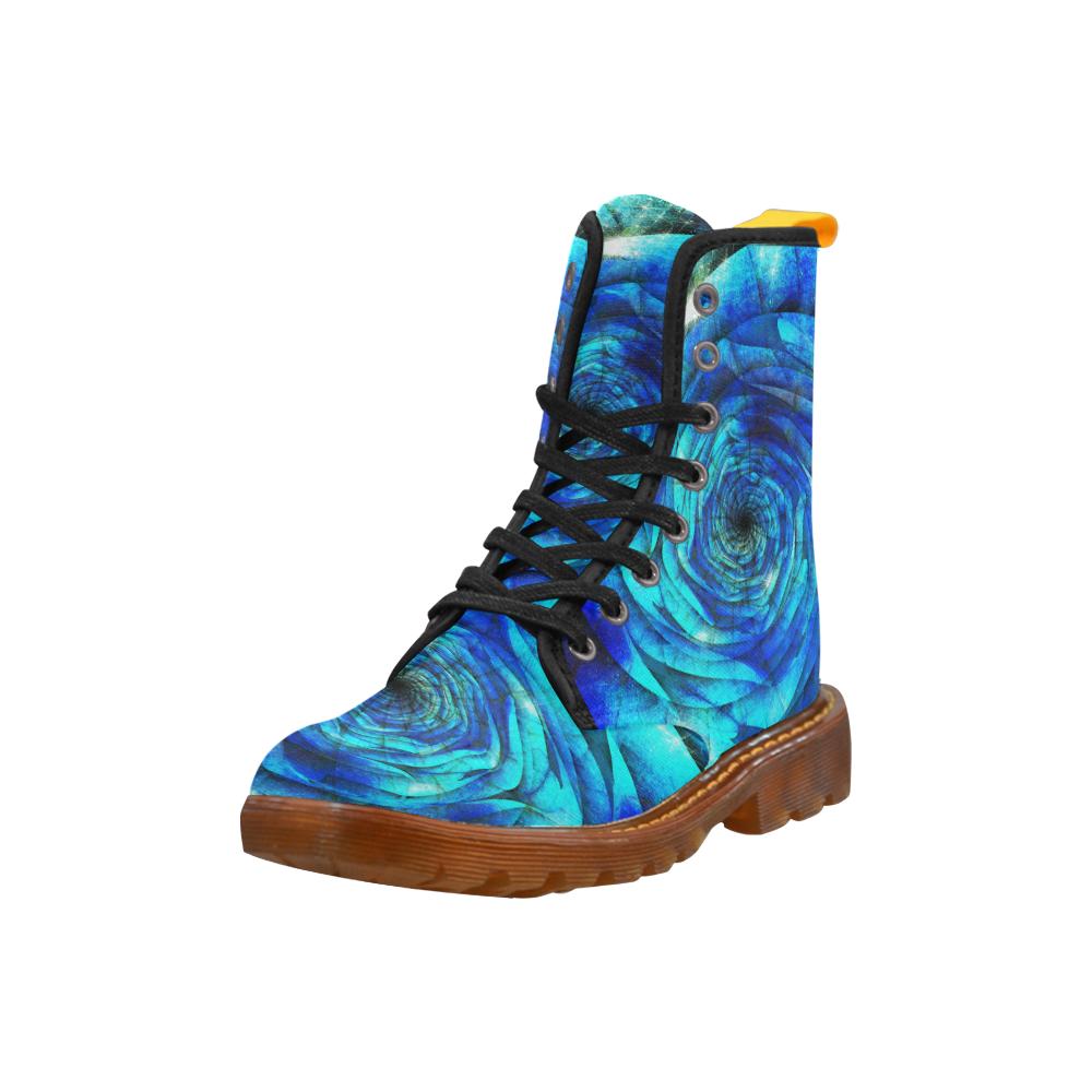Galaxy Wormhole Spiral 3D - Jera Nour Martin Boots For Women Model 1203H