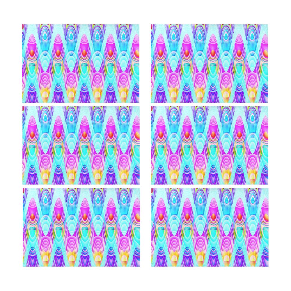 2D Wave #1B - Jera Nour Placemat 12'' x 18'' (Six Pieces)