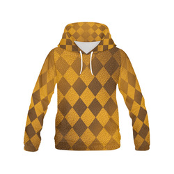 Thanksgiving Earthtone Square All Over Print Hoodie for Women (USA Size) (Model H13)