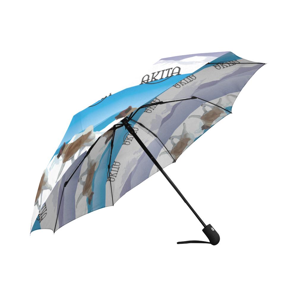 Akitas all Rockin The Rockies Auto-Foldable Umbrella (Model U04)