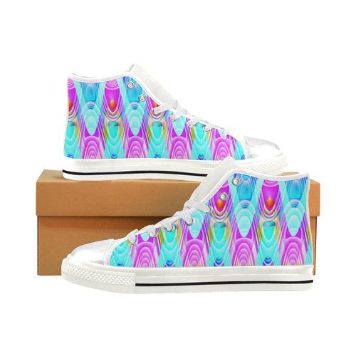 2D Wave #1B - Jera Nour High Top Canvas Shoes for Kid (Model 017)
