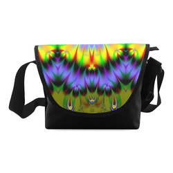 Sun-Drenched Flower Gardens Fractal Abstract Crossbody Bag (Model 1631)