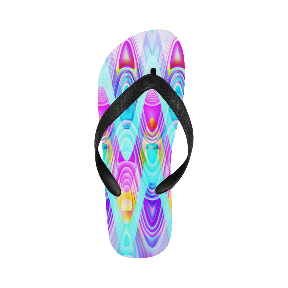 2D Wave #1B - Jera Nour Flip Flops for Men/Women (Model 040)