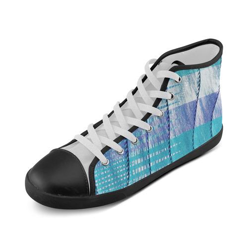 Batik Maharani #6 Vertical - Jera Nour High Top Canvas Kid's Shoes (Model 002)