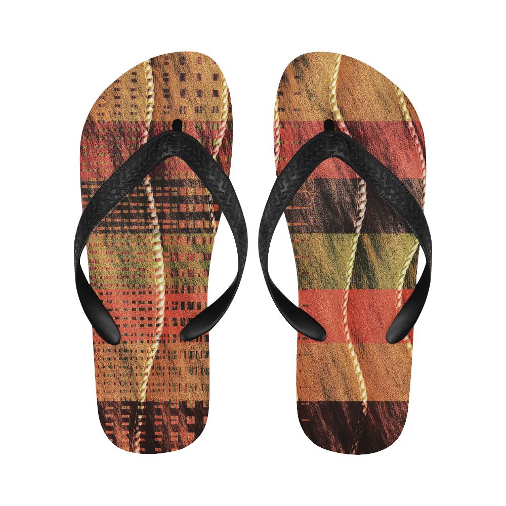 Batik Maharani #6 Vertical - Jera Nour Flip Flops for Men/Women (Model 040)