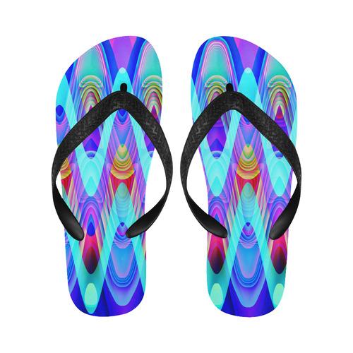 2D Wave #1A - Jera Nour Flip Flops for Men/Women (Model 040)