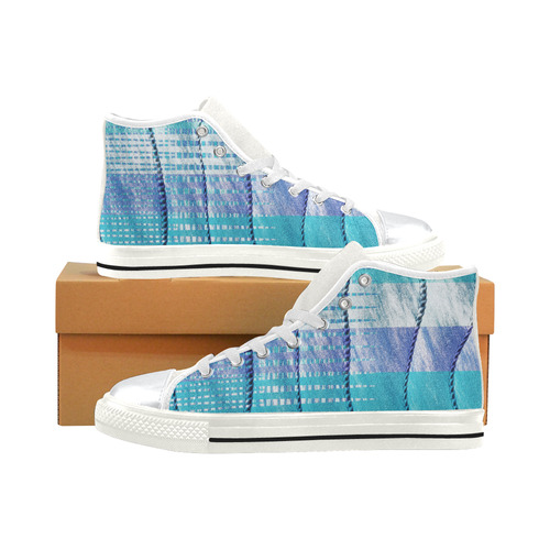 Batik Maharani #6 Vertical - Jera Nour High Top Canvas Shoes for Kid (Model 017)