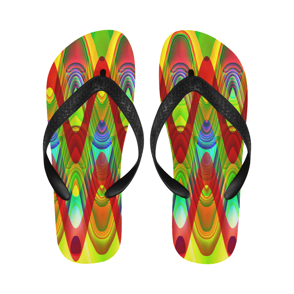 2D Wave #1A - Jera Nour Flip Flops for Men/Women (Model 040)