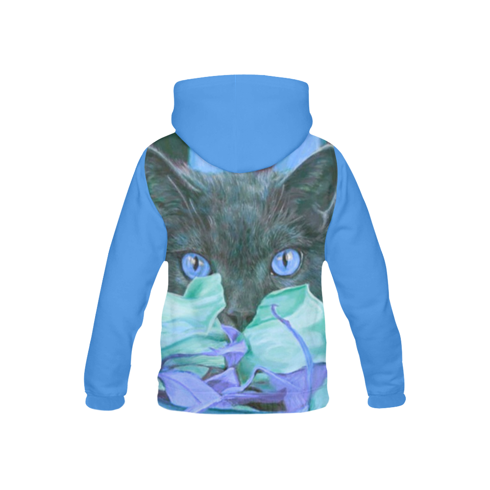 THE BLUE All Over Print Hoodie for Kid (USA Size) (Model H13)