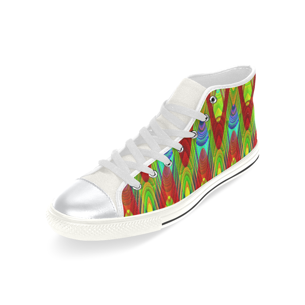 2D Wave #1A - Jera Nour High Top Canvas Shoes for Kid (Model 017)