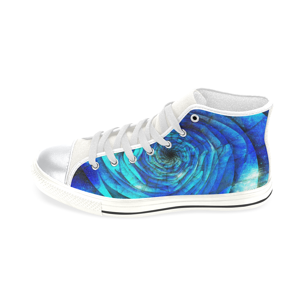 Galaxy Wormhole Spiral 3D - Jera Nour High Top Canvas Shoes for Kid (Model 017)
