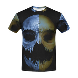 vampire skull of evil All Over Print T-Shirt for Men (USA Size) (Model T40)