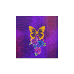 """Psychedelic Butterfly Canvas Print 16""""x16"""""""