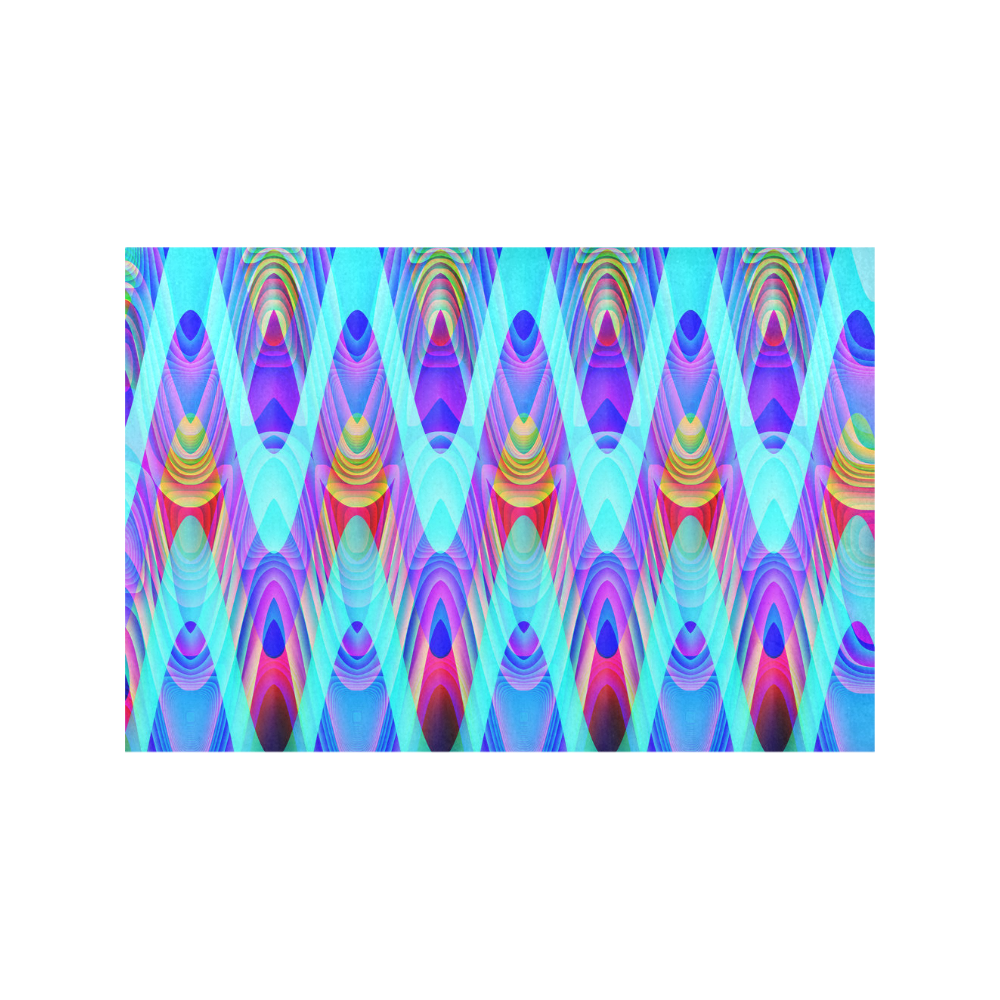 2D Wave #1A - Jera Nour Placemat 12'' x 18'' (Six Pieces)