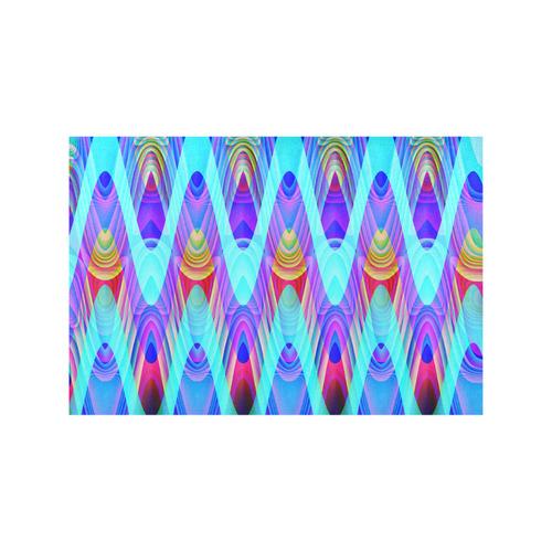 2D Wave #1A - Jera Nour Placemat 12'' x 18'' (Four Pieces)