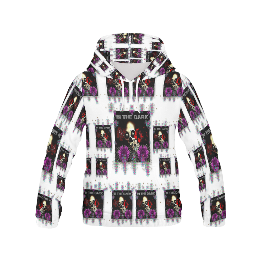 In The Dark 2 All Over Print Hoodie for Women (USA Size) (Model H13)