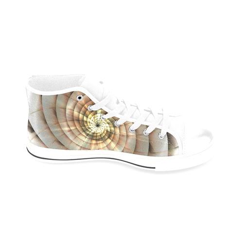 Spiral Eye 3D - Jera Nour Men's Classic High Top Canvas Shoes /Large Size (Model 017)