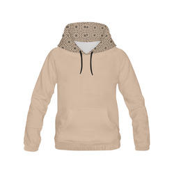 Hazelnut Lace All Over Print Hoodie for Women (USA Size) (Model H13)