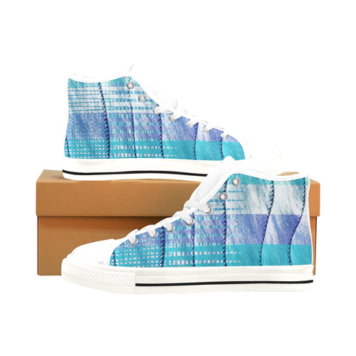 Batik Maharani #6 Vertical - Jera Nour Men's Classic High Top Canvas Shoes /Large Size (Model 017)