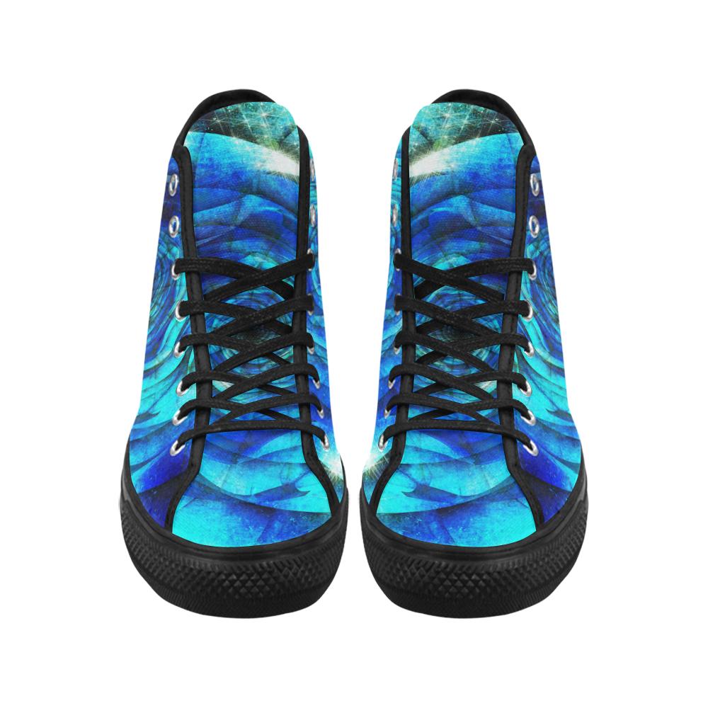 Galaxy Wormhole Spiral 3D - Jera Nour Vancouver H Men's Canvas Shoes (1013-1)