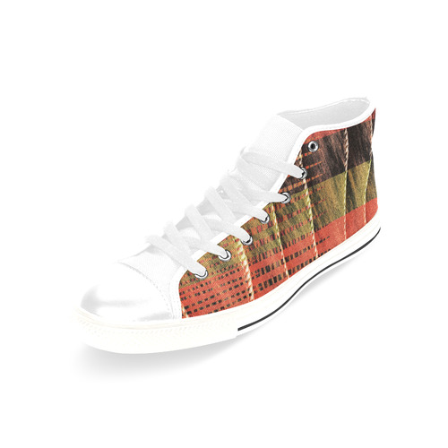Batik Maharani #6 Vertical - Jera Nour Men's Classic High Top Canvas Shoes /Large Size (Model 017)