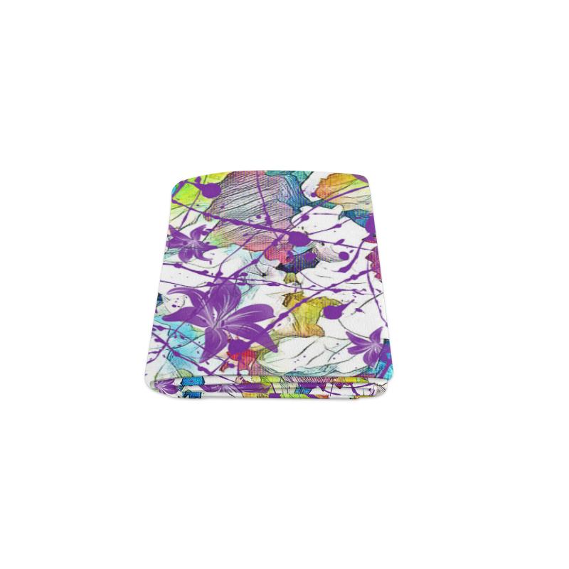"Lilac Lillis Abtract Splash Blanket 40""x50"""