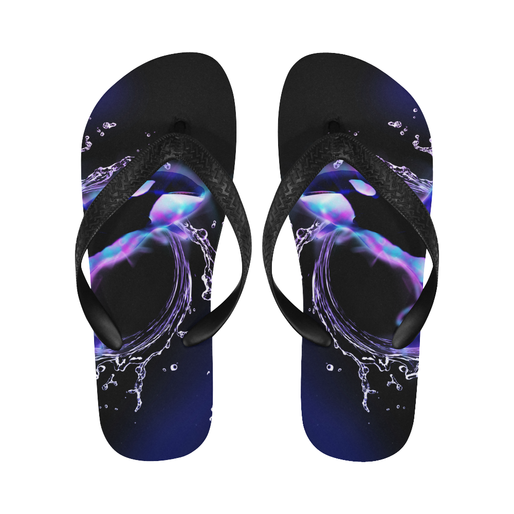 Awesome orca Flip Flops for Men/Women (Model 040)