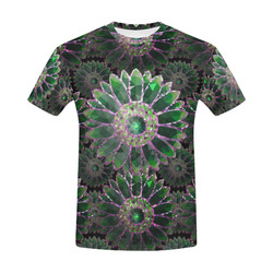 Mosaic Flower Pattern All Over Print T-Shirt for Men (USA Size) (Model T40)