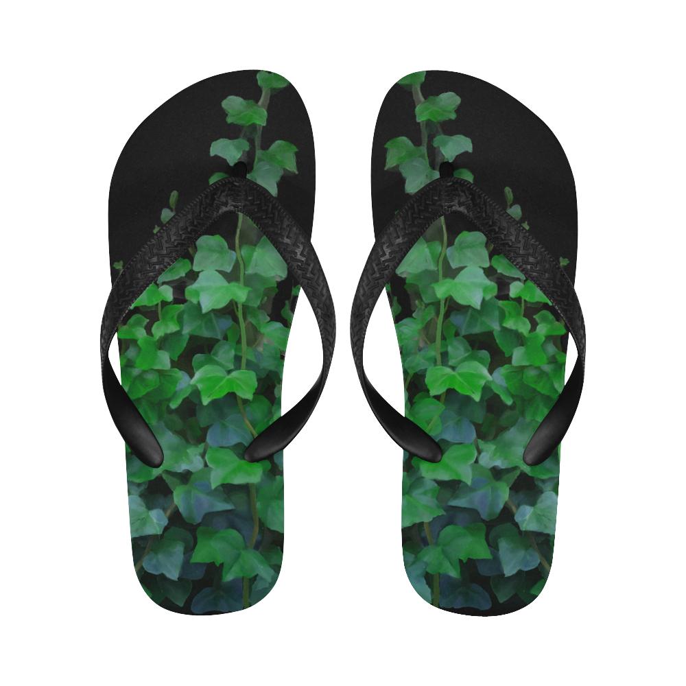 Watercolor Ivy - Vines, plant watercolor Flip Flops for Men/Women (Model 040)
