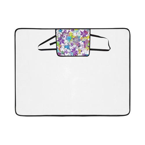 Lilac Lillis Abtract Splash Portable & Foldable Mat 60''x78''