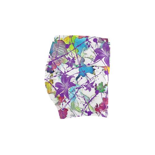 Lilac Lillis Abtract Splash Briseis Skinny Shorts (Model L04)