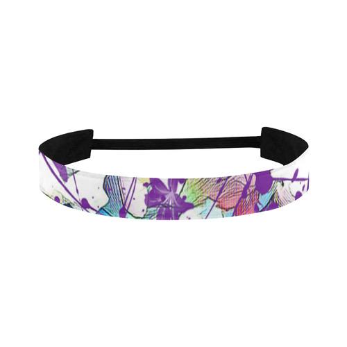 Lilac Lillis Abtract Splash Sports Headband