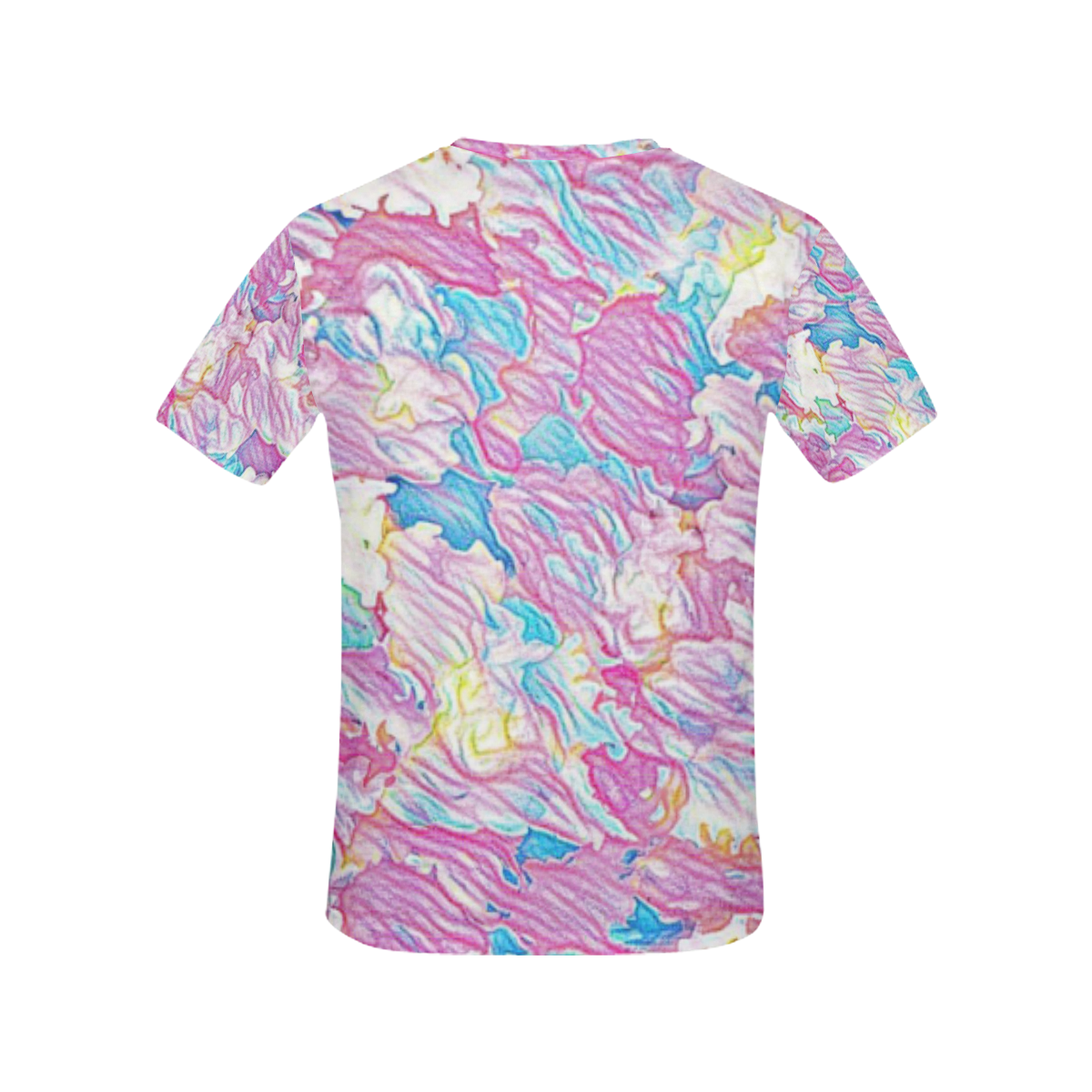 Flower Colors Abtract All Over Print T-Shirt for Women (USA Size) (Model T40)
