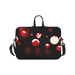 "Crimson Orbs Laptop Handbags 17"""
