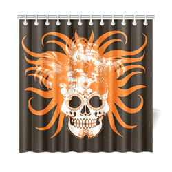 "hippie skull F by JamColors Shower Curtain 72""x72"""