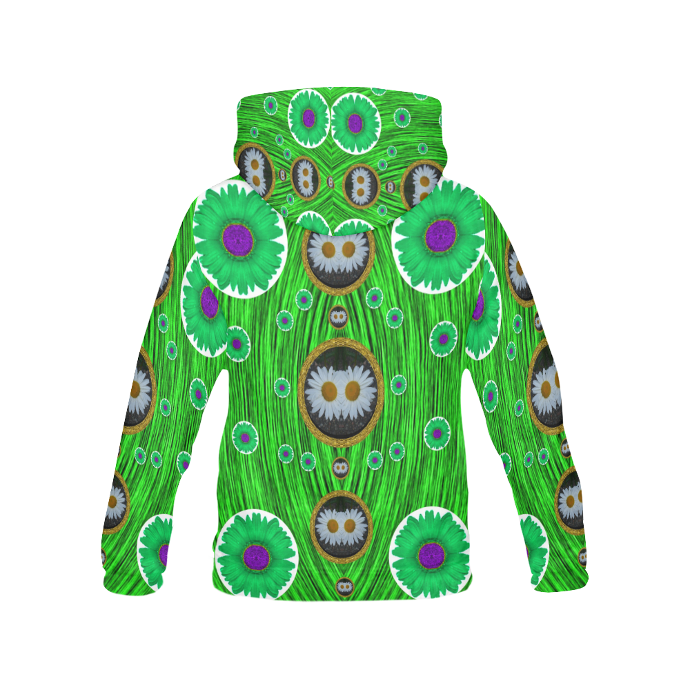 Garden Lovers All Over Print Hoodie for Women (USA Size) (Model H13)