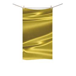 "Gold satin 3D texture Custom Towel 16""x28"""