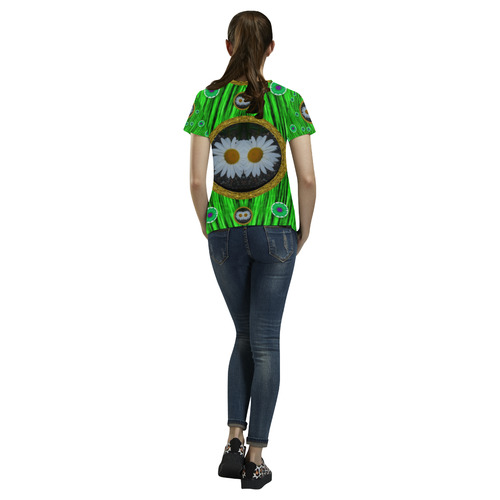 Garden Lovers All Over Print T-Shirt for Women (USA Size) (Model T40)