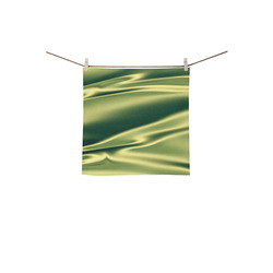 "Green satin 3D texture Square Towel 13""x13"""