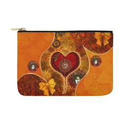 Steampunk decorative heart Carry-All Pouch 12.5''x8.5''