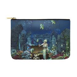 Underwater wold with mermaid Carry-All Pouch 12.5''x8.5''