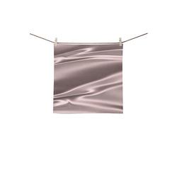 "Lilac satin 3D texture Square Towel 13""x13"""