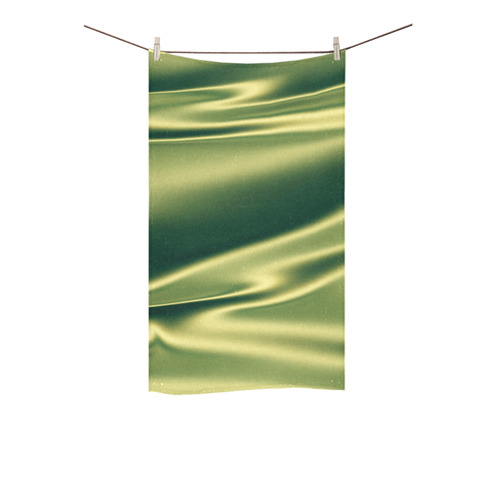 "Green satin 3D texture Custom Towel 16""x28"""
