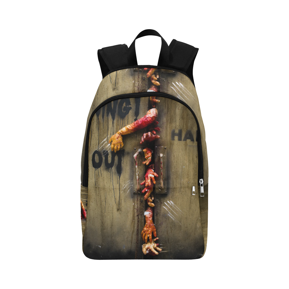 ... Nike Hoops Elite Max Air Team 2.0 Graphic Basketball Backpack  new  arrival 1767a 746da Custom Zombie Hand Through The Door School Bag Laptop  Backpack ... f18729816f