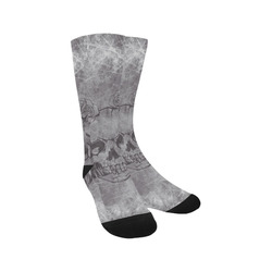 scratchy skull with roses A by JamColors Trouser Socks